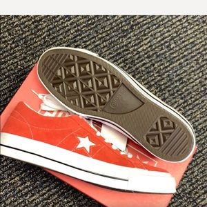 Red converse One Stars